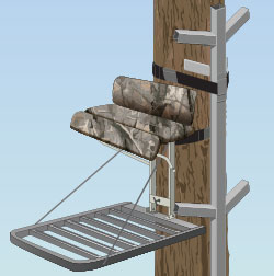 Non-climbing tree stand