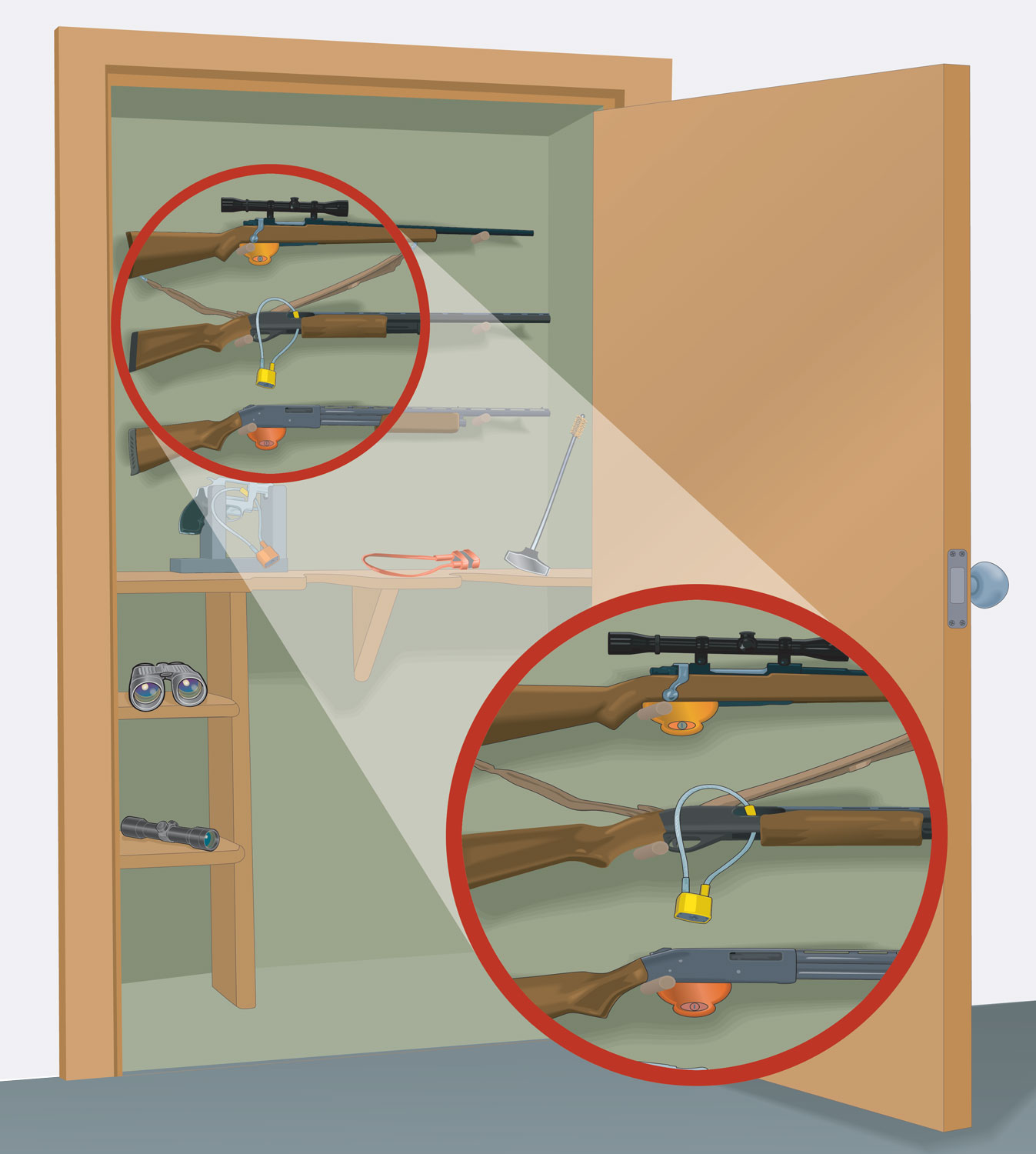 Firearm storage closet
