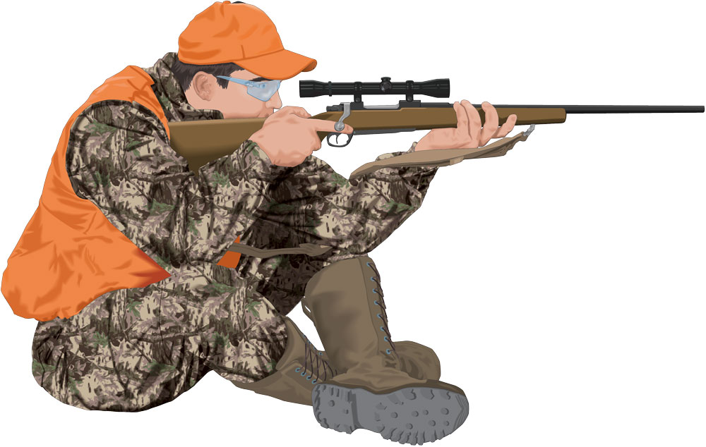 Sitting shooting position