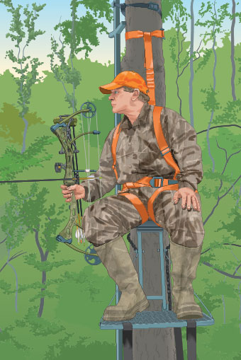 Bowhunter using FAS