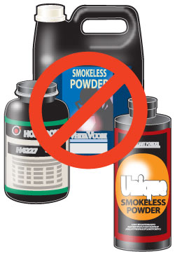 Do not use smokeless powder
