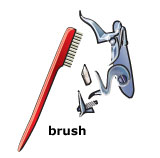 Muzzleloader cleaning supplies: brush