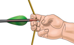 Finger position when nocking an arrow