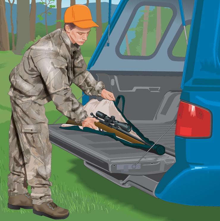 Hunter casing rifle for safe transport