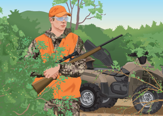 Hunting with an ATV