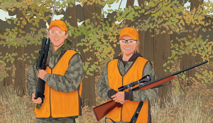 Hunters maintain their physical condition