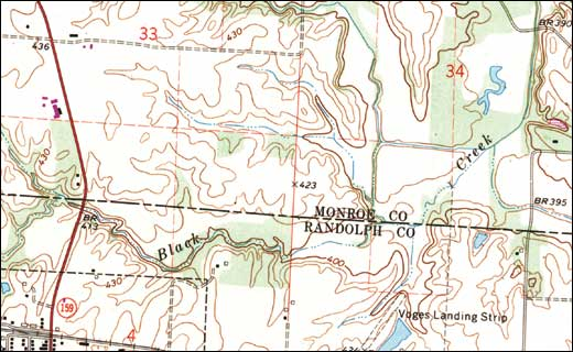 Example of trail map